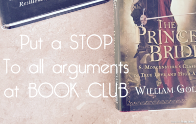How to Have NO Arguments at Book Club!